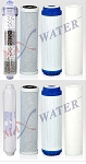 Alkaline mineral reverse osmosis water replacement filter set 8filters