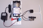 Full Package of Reverse Osmosis Booster Pump 50  to 75 GPD and accessories.