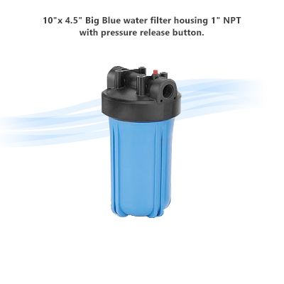 10 x 4 5 big blue water filter housing 1 npt with for Blue water parts piscine