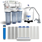 5 stage home drinking reverse osmosis system with 12 water filters