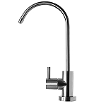 Modern Designer Faucet, Chrome Plated, Lead Free NSF certified ceramic stem.