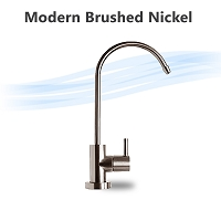Modern Designer Faucet, Brushed Nickel, Lead Free NSF certified ceramic stem.