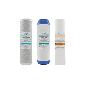 "Whole House Water Filter Set (CTO Carbon Block + UDF GAC + 5M Sediment Filter) Size 10""x2.5"""