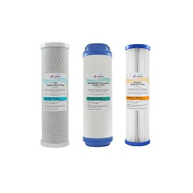 Whole house water Filter Set Pleated + UDF Carbon GAC + CTO