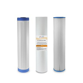 "(3) BIG BLUE 20"" x 4.5"" Whole House carbon water filter replacement set"
