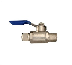 "Feed Water Ball Valve 1/4 tubex1/4"" MIP"