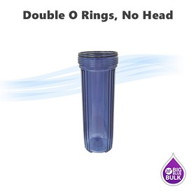 "20""x 4-1/2"" Big Blue single o ring type clear filter housing without head"