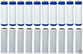 Whole House Pre-Reverse Osmosis RO, 20 Replacement Carbon Water Filters CTO GAC