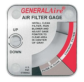 General Air Filter Replacement Gage indicator