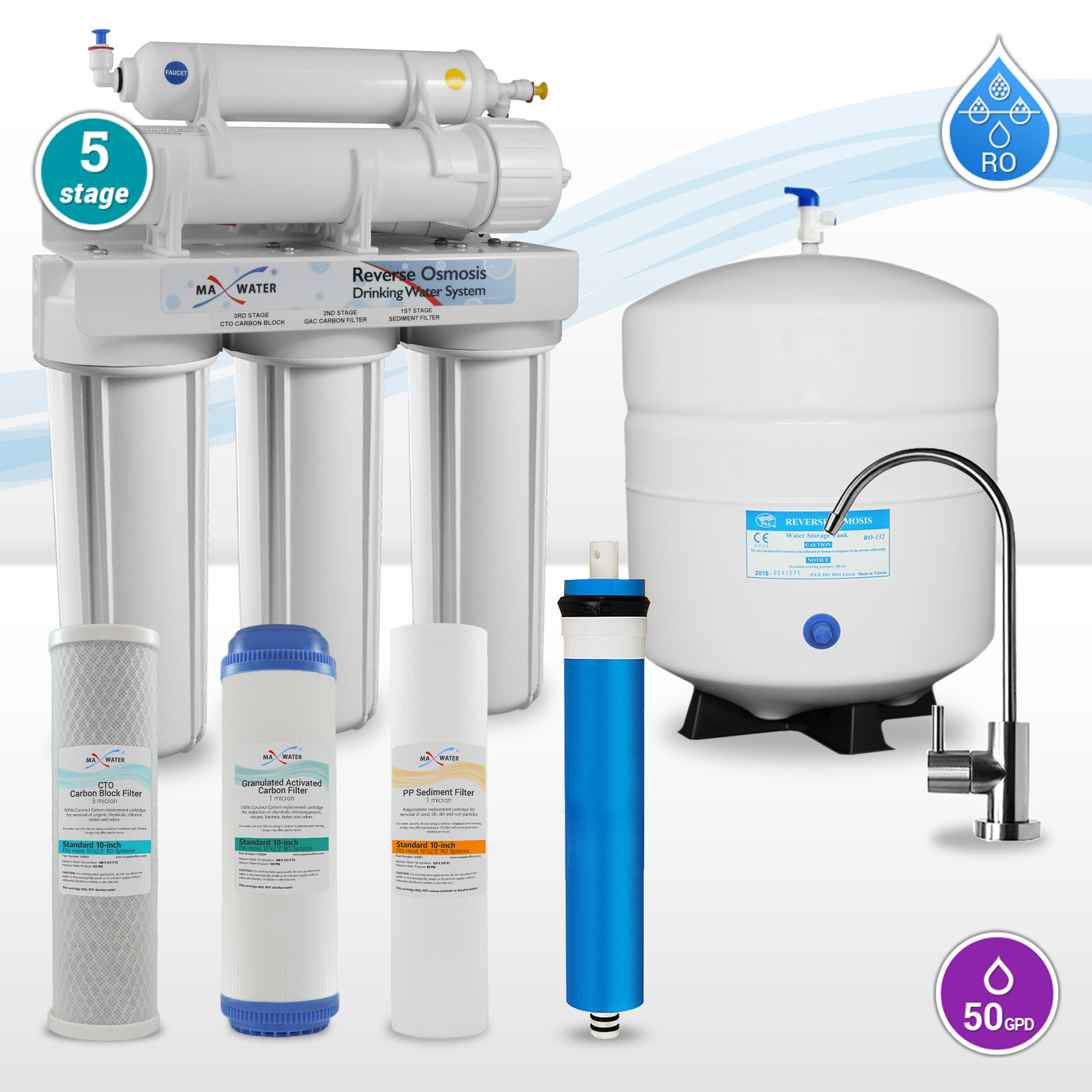 bca0ca87f 5 Stage Home Reverse Osmosis Systems - 101009