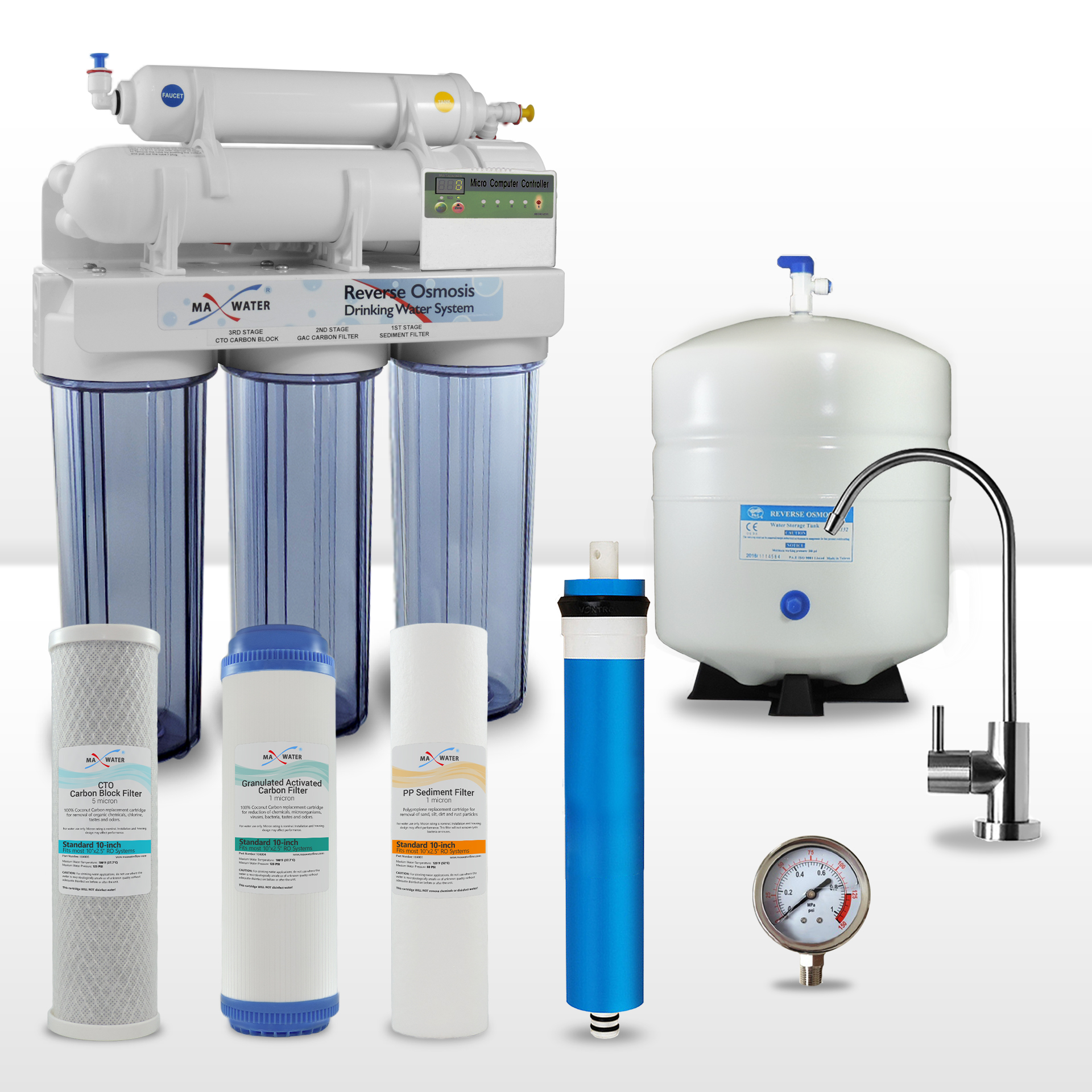 5 Stage Lcd Reverse Osmosis System With Filter Replacement