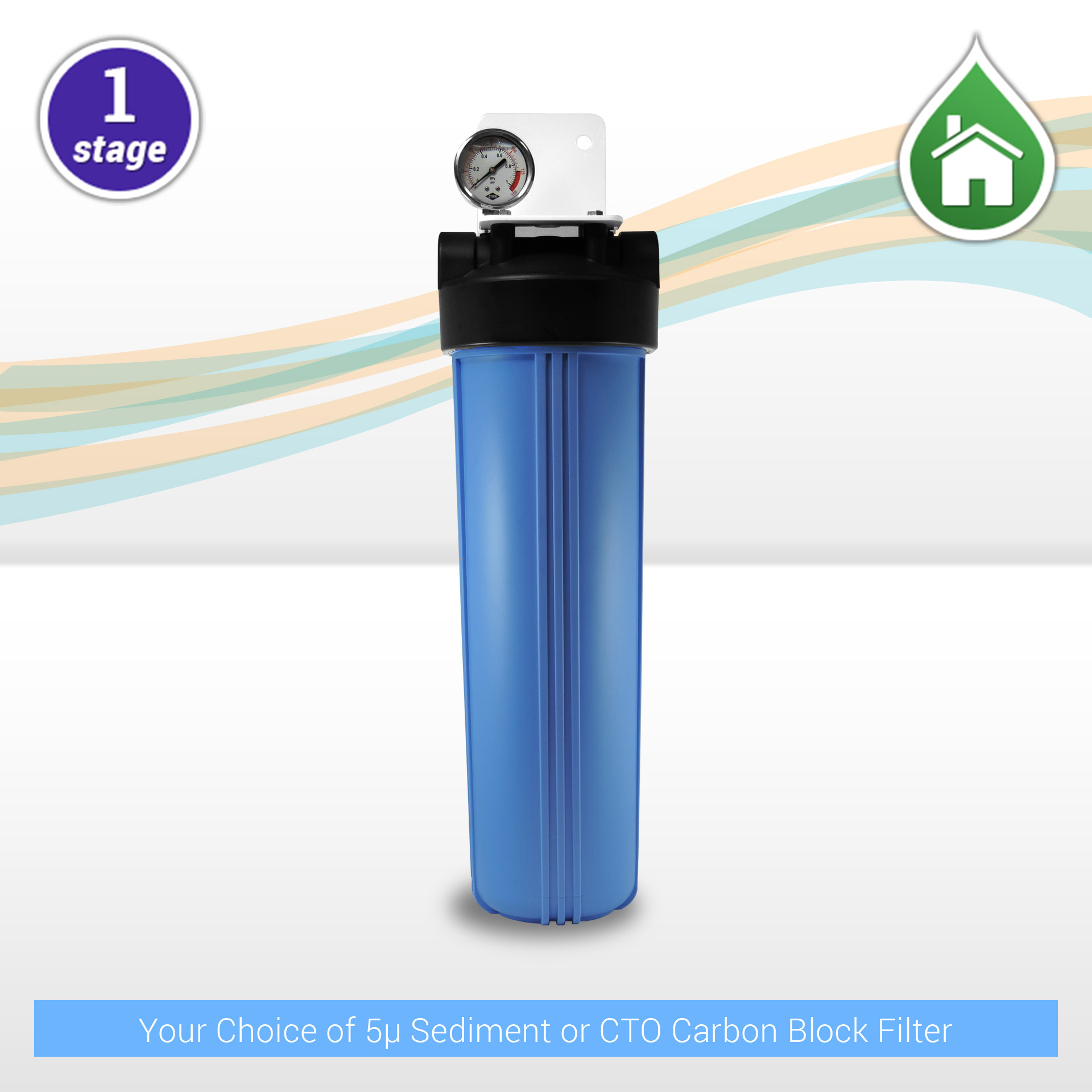 1 Stage 20 Quot X 4 5 Quot Big Blue Water Filtration System With