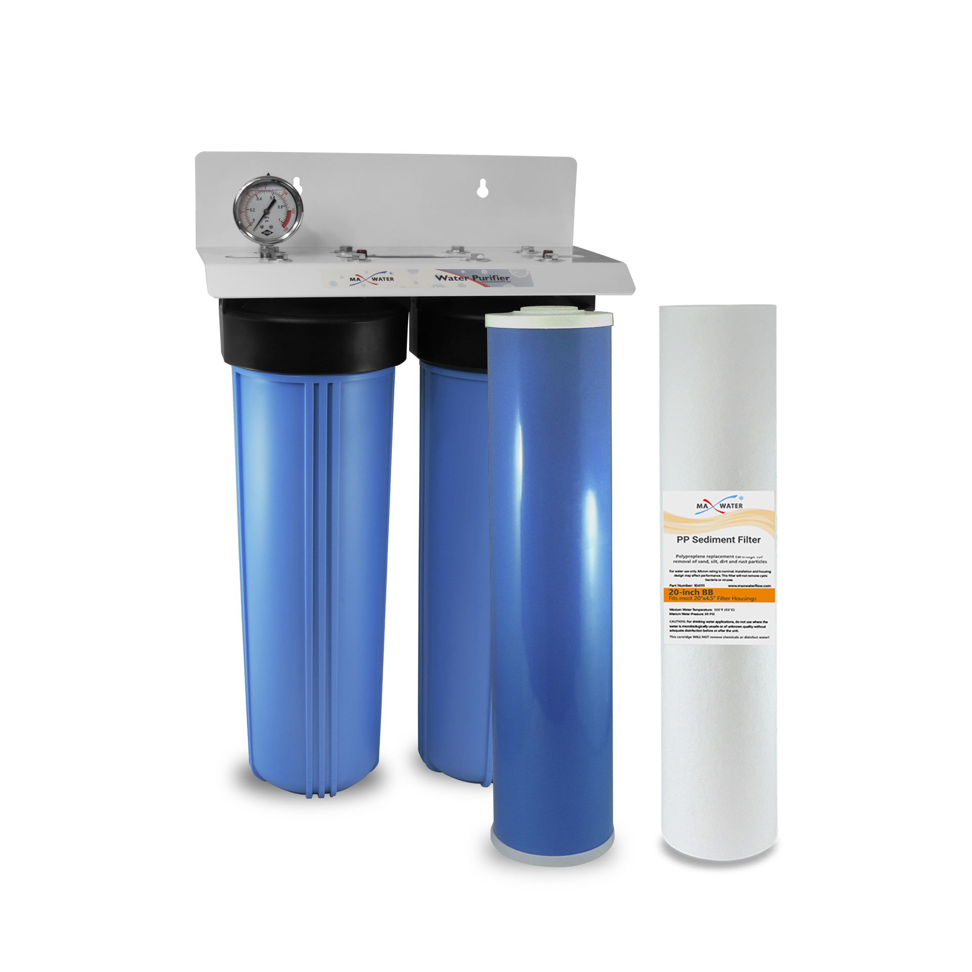 Big Blue Auto >> 2 Stage 20 X 4 5 Big Blue Auto Detailing Water Filtration System Or 1 Npt Ports