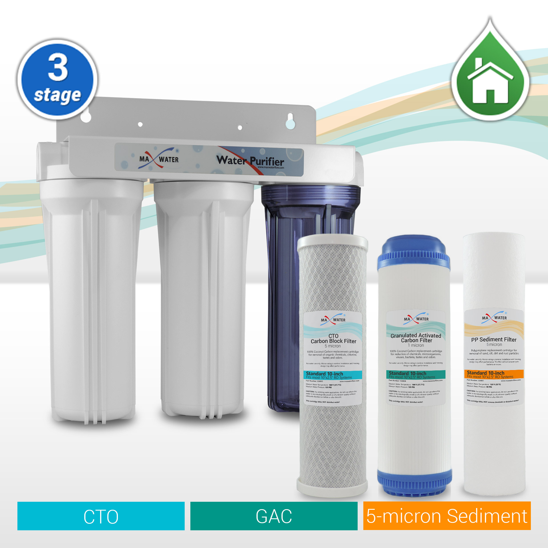 3 Stage Whole House Water Filter Cottage Water Filter