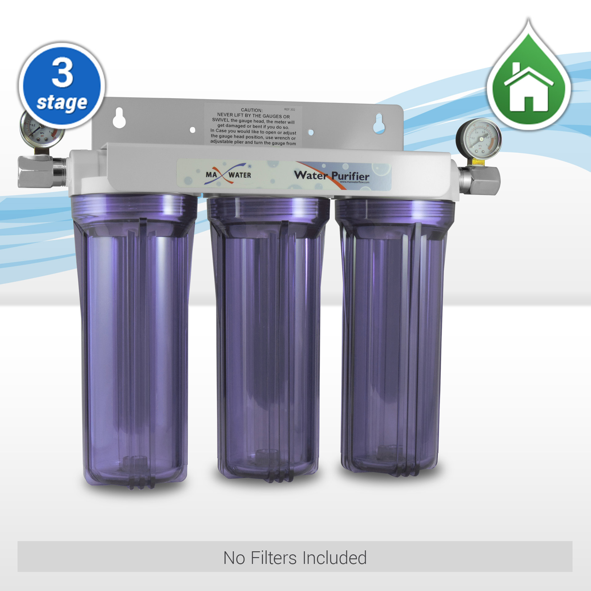 3 Stage 10 Standard Whole House Water Filtration System W