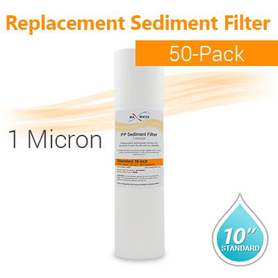 50 Pcs Spun Polypropylene Sediment Filter 1 Micron Size