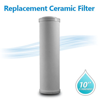 Doe Ceramic Filter 0 8 0 3 Micron Filter Size 10 Quot X2 5 Quot