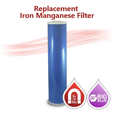 Iron Manganese Water Filter Big Blue Size 20 Quot X4 5 Quot