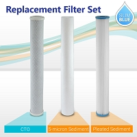 "20"" Slim Blue Lake, Cottage & Well Filter Set (3-pack)"