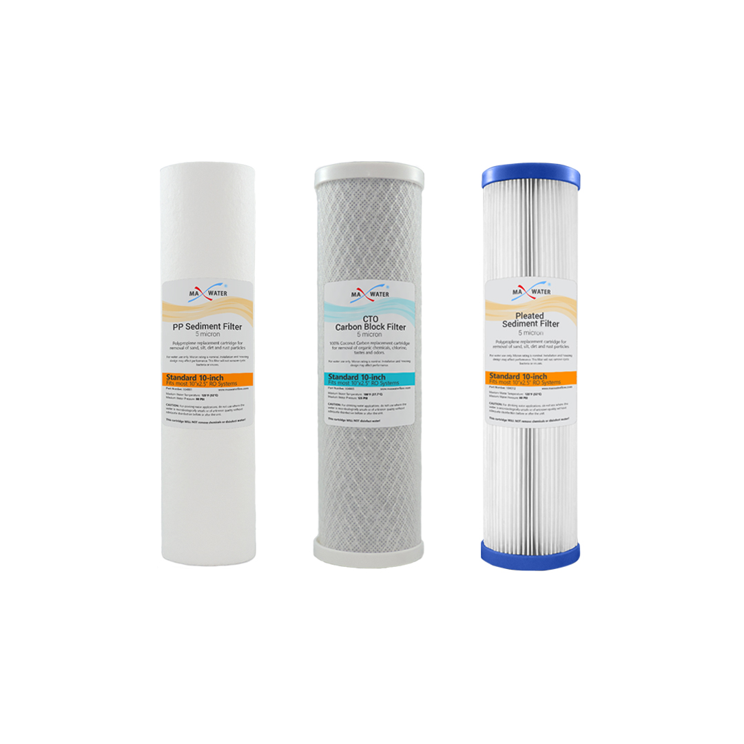 """1 or 5 Micron 10/"""" x 2.5/"""" PP Sediment Water Filter Whole House /& Reverse Osmosis"""