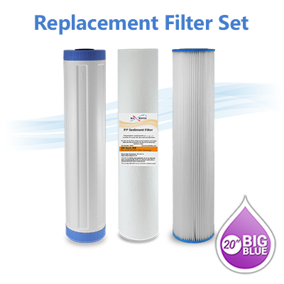 3 Big Blue 20 Quot X 4 5 Quot Whole House Carbon Water Filter