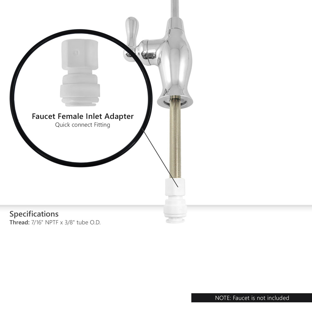 Reverse Osmosis 7 16 Quot Nptf X 3 8 Quot Tube O D Faucet Female
