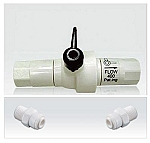 Flow Restrictor 400 ML/Min with build in Manual flush bypass knob
