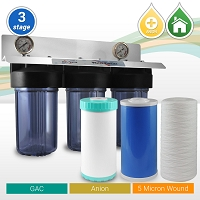 Whole House Anion Tanins / Nitarates Reduction Water Filter  3 Stages 10