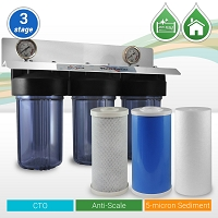 Whole House Phosphate Anti-Scale Water Filter  3 Stages 10