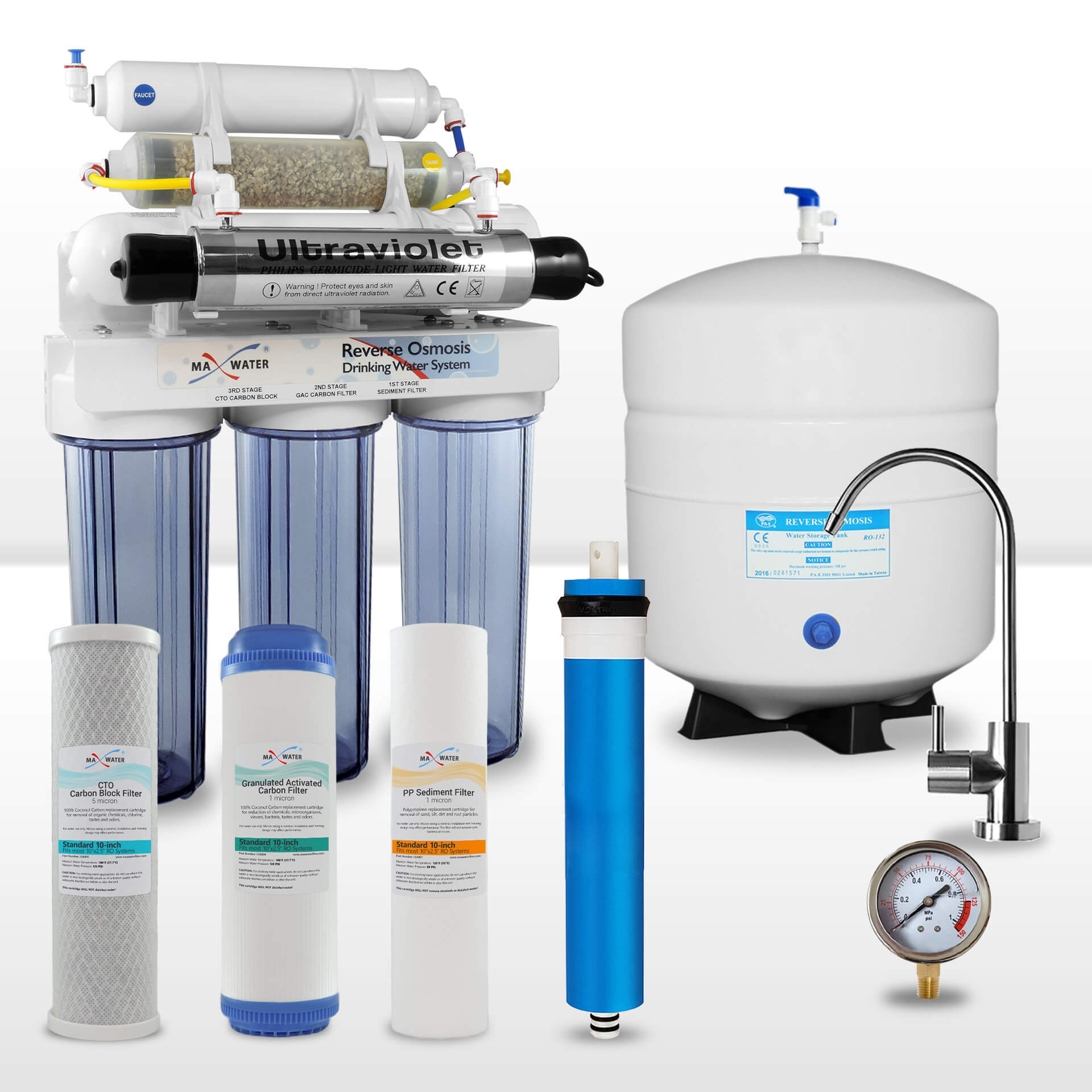 7 Stage Reverse Osmosis System With Uv Sterilizer Re