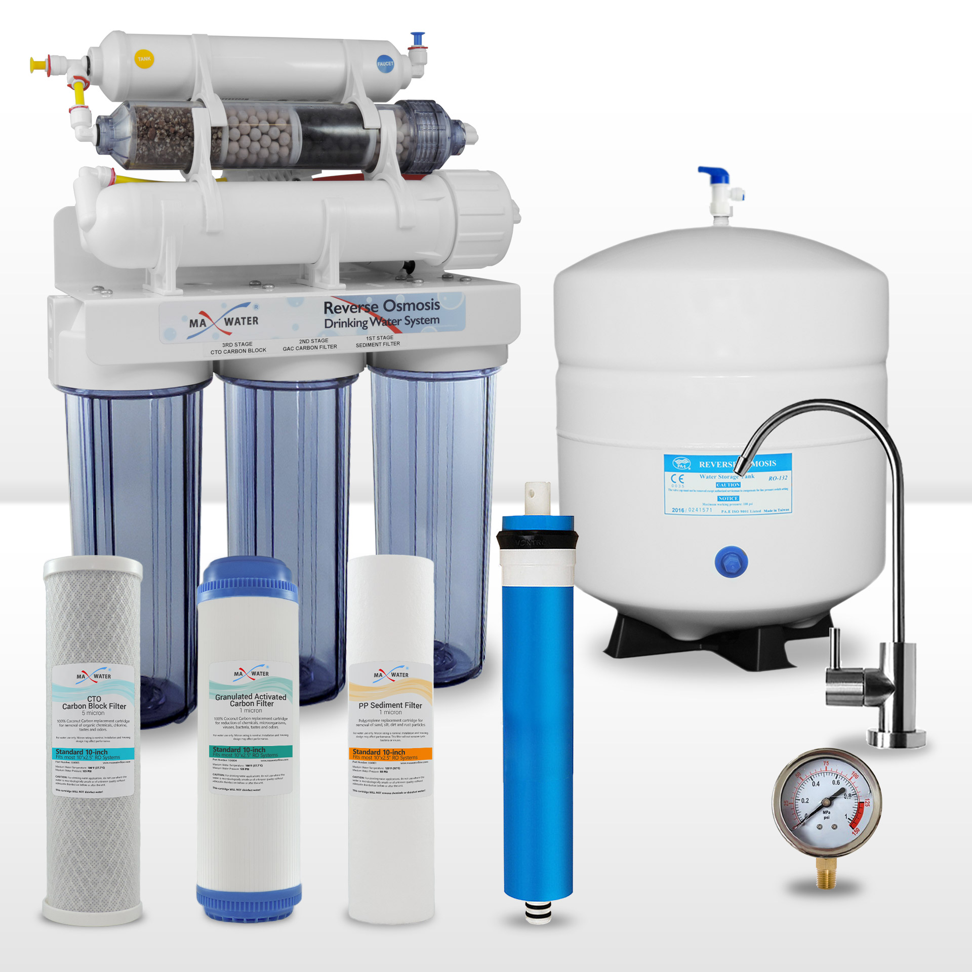 8 Stage Alkaline Mineral Infrared Reverse Osmosis Water