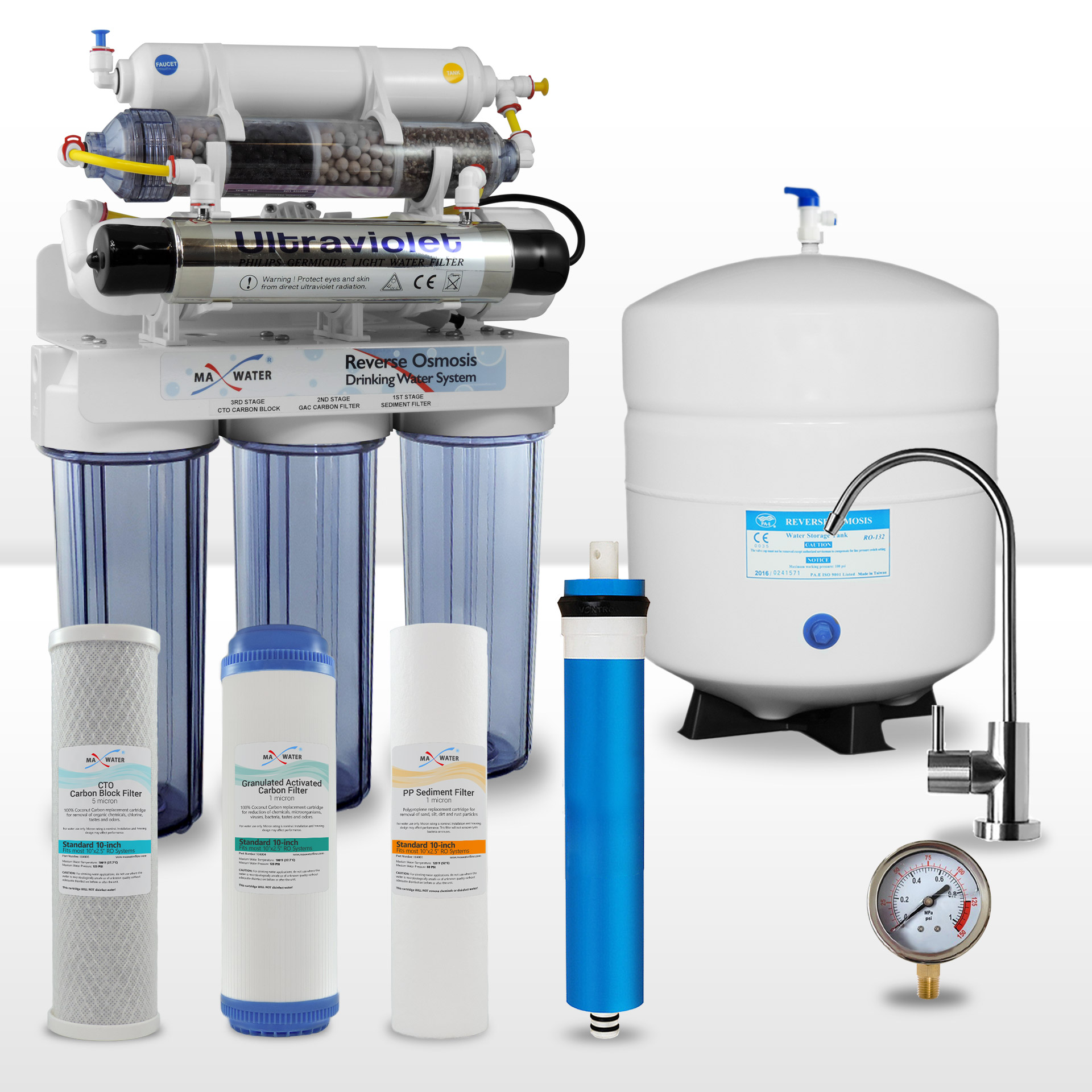 054bc232b6f3 9-stage Alkaline Reverse Osmosis System with UV Sterilizer