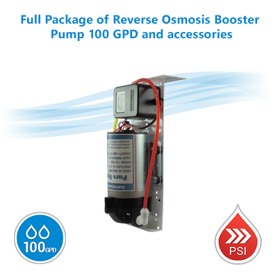 Full Package Of Reverse Osmosis Booster Pump 100 Gpd And