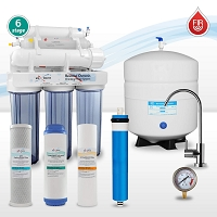 6-stage Far Infrared Reverse Osmosis Water System ( UV alternative without power )