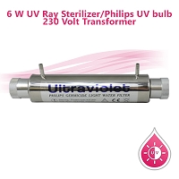 6 W UV Ray Sterilizer/Philips UV bulb, 220 Volt Transformer