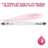 6 W Philips UV bulb for UV Sterilizer Part# 105020 Model # SSE-006PH