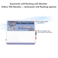 Automatic self-flushing LCD Monitor (Inline TDS Monitor + Automatic self-flushing option)