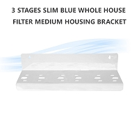 3 Stage Slim Blue Whole House Filter Medium Housing Bracket