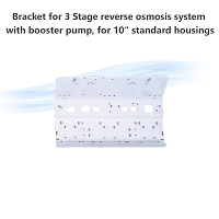 Bracket for 3 Stage reverse osmosis system with booster pump, for 10