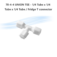 70-4-4 UNION TEE - 1/4 Tube x 1/4 Tube x 1/4 Tube  / Fridge T connector