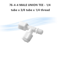 76-4-4 MALE UNION TEE - 1/4 tube x 3/8 tube  x 1/4 thread