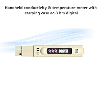 Handheld conductivity & temperature meter with carrying case EC-3 hm digital