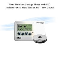 Filter Monitor (5 stage Timer with LED Indicator Disc & Flow Sensor.  FM-1 HM Digital