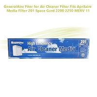 GeneralAire Fiter for Air Cleaner Filter  Fits Aprilaire Media Filter 201 Space Gard 2200 2250  MERV 11