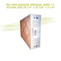 M8-1056 GENUINE ORIGINAL MERV 11. ACTUAL SIZE 20 1/4