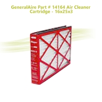 GeneralAire Part # 14164 Air Cleaner Cartridge - 16x25x3