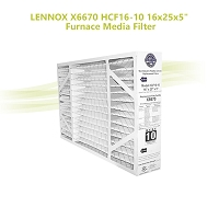 Lennox X6670 16x25x5 MERV 11 Healthy Climate for HCF16-11 & HCC16-28. Actual Size 15 3/4