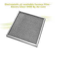 Electrostatic air washable furnace filter