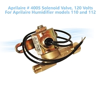 Aprilaire # 4005 Solenoid Valve, 120 Volts. For Aprilaire Humidifier models 110 and 112