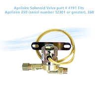 Aprilaire Solenoid Valve part # 4191. Fits Aprilaire 350 (serial number 12301 or greater), 360